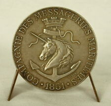 Médaille Compagnie des messageries maritimes 1851 Licorne unicorn sc Barre Medal