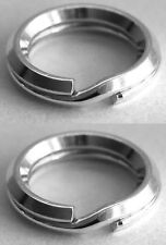 2 SECURE STERLING SILVER BEVELLED SPLIT RINGS, 6 MM, SAFER THAN A JUMP RING