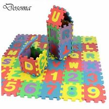 36PCS KID FOAM ALPHABET CHILDREN SOFT JIGSAW PUZZLE PLAY LEARNING MAT NUMBERS HT