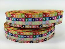 """BTY 7/8"""" Small Colorful Mickey Heads Grosgrain Ribbon Hair Bows Lisa"""