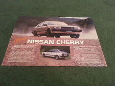 Late 1984 / 1985 Model Nissan CHERRY L / GS / SGL / TURBO LEAFLET BROCHURE Stamp