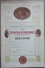 1930s Poster/Diploma: Belgian Kennel/Dog Club - Chow Chow - Songshi Quan