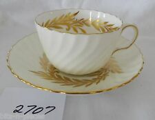 MINTON England Bone China  Cup & Saucer set GOLDEN SYMPHONY Gold sprays