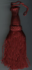 "7"" RED KEY TASSEL HOME DEC FABRIC TRIMMING HOME DECORATING SEWING HOLIDAY TRIM"