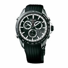 New Seiko Astron Solar GPS Chronograph Rubber Strap Men's Watch SSE015