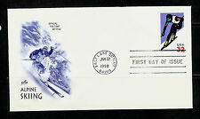 FIRST DAY COVER #3180 Alpine Skiing 32c Downhill Racer ARTCRAFT U/A FDC 1998