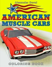 American Muscle Cars Coloring Book by Happy Coloring