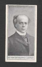 Sir Wilfred Laurier Prime Minister Canada Vintage Wills Cigarette Card