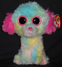 """TY BEANIE BOOS - LOVESY the 6"""" DOG - JUSTICE EXCLUSIVE - MINT TAGS - PLEASE READ"""