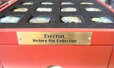 EVERTON FC Victory Pins FULL SET OF 24 Badges & Case Maker Danbury Mint