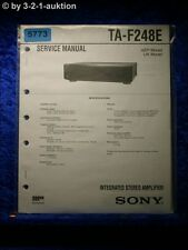 Sony Service Manual TA F248E Amplifier (#5773)