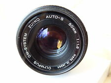 OLYMPUS OM 50 mm f1.8 ZUIKO AUTO S M/I Japon Lens, s'adapte OM Camera Mount Optics A1