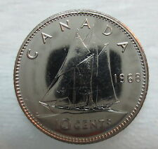 1968 CANADA 10 CENTS PROOF-LIKE COIN