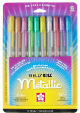 Sakura Gelly Roll ® Metálico ™ Fine and Medium Point Pen Conjunto de 10 Colores Surtidos