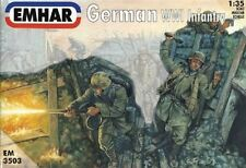 Emhar 1/35th Scale WWI German Plastic Soldiers Set 3503 12 Figures Boxed!