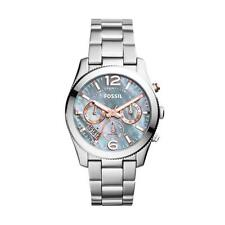 FOSSIL WOMEN'S 39MM STEEL BRACELET & CASE QUARTZ MOP DIAL ANALOG WATCH ES3880