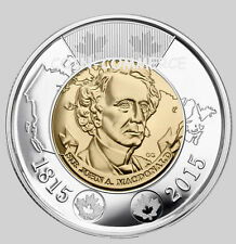 2015 Canada Canadian $2 Coin Sir John A. MacDonald 1815 Twoonie