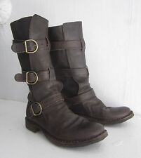 $585 FIORENTINI+BAKER Dk Brown 7040 ETERNITY Boots SoldOut CELEB FAVE 36.5 7 7.5