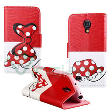 Custodia cover stand Topolina Skirt rossa per Samsung Galaxy S4 mini i9195 case