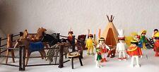 Gran Lote Playmobil Años 80/90 Vaqueros Bar Indios Caballos...