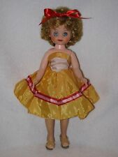 "Cute 14"" Vintage Vinyl Fashion Doll Dressed Cute"
