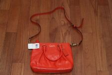 NWT $298 Coach F20342 Ashley Leather Mini Tote Purse Brass / Orange
