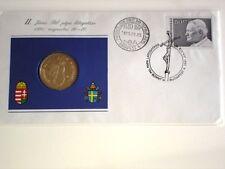 Hungary 100 forint CuNiZn UNC 1991BP Pope John Paul II Papal Visit Special Cover