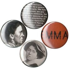 Emma Goldman Set of 4 Buttons-Pins-Badges red anarchist anarchy anarchism