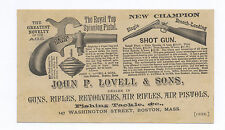 1880's-1890's ROYAL TOP SPINNING TOY CAP PISTOL & SHOTGUN GUN DEALER AD CARD