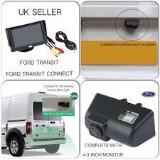 "Kit de Cámara Trasera Reversa Para Ford Transit & Conectar van, incluye 4:3"" Pantalla, Reino Unido"
