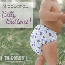 Thirsties Velcro One Size Natural All In One, BILLY BUTTONS
