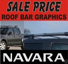 2 x Nissan Navara pick up roof bar decals
