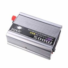 K7750 DOXIN 500W (max) WATT DC 12V to 220V portable AC car Inverter Charger conv