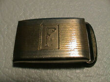 F FRANK FRED FABIO FRANCIS 10K GOLD PLATED MENS SMALL DRESS CASUAL BELT BUCKLE