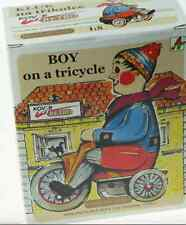 Kovap Tinplate Toys - Boy on a Tricycle -Large Windup Collector EUROPEAN TIN TOY