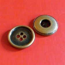 """10 Large Brass Metal 4 Holes Jacket Coat Clothing Sewing Buttons 25mm 1"""" G52"""