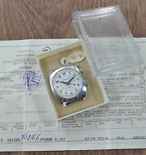 N.O.S Men`s Vintage USSR SOVIET Russian mechanical watch POLJOT ALARM VIBRATES