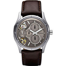 FOSSIL TWIST Automatic ME1020 Mens Skeleton Dial Brown Leather Watch