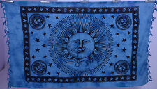 Celestial Sun Moon Stars Hippie Indian Tapestry Bedspread Throw Wall Hanging