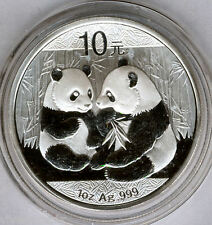 China 10 Yuan 2009 BEAR PANDA  @ 1 oz silver pure @