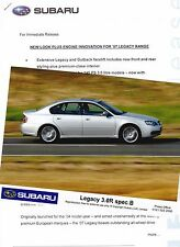 Official SUBARU Press Release and Photos of the '07 Legacy Range & 3.0R Spec.B