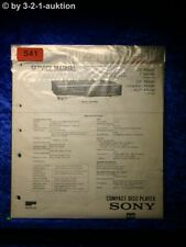 Sony Service Manual CDP 307ESD / 950 CD Player (#0541)