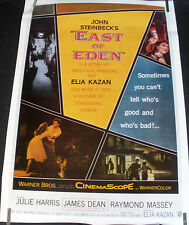 RARE EAST OF EDEN JAMES DEAN 1970'S VINTAGE ORIGINAL MOVIE PIN UP POSTER