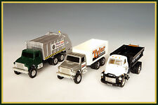 1:64 SCALE TRIO OF ERTL AND MATCHBOX VINTAGE COMMERCIAL TRUCKS