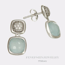 Authentic Sterling Silver Ti Sento Milano Aqua Green  Earring Charms 7735AG