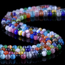 20Pcs Cat's Eye Stone Mixed Color Beads Opal Bracelet Findings Loose Beads 8mm