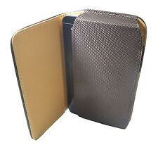 Premium Leather Belt Pouch Magnetic Flip Cover Samsung Galaxy Note 2 N7100 Brown