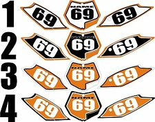 2011-2012 KTM SX 125-250 sxf 250-450 Number Plates Side Panels Graphics Decal