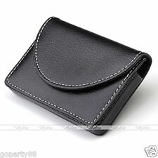 Chic Black Business Credit ID Card Holders Metal Stainless Steel Pocket Case Box