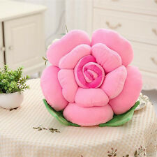 80CM Car Chair Cushions 3D Rose Flower Pillow Plush Toy Valentine's Day Decor